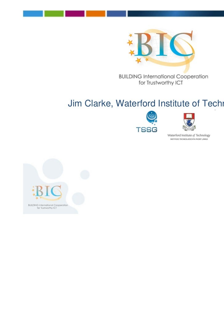 Jim Clarke, Waterford Institute of Technology                                                [1]