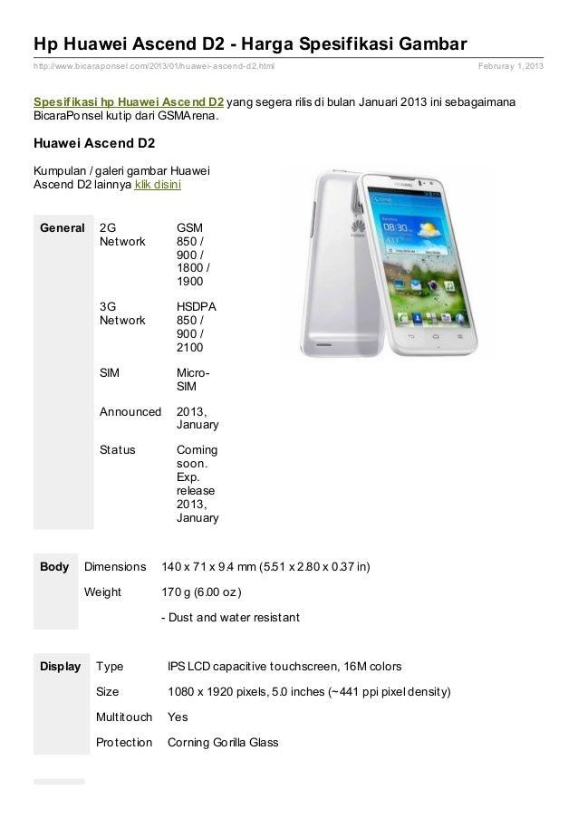 Spesifikasi Huawei Ascend D2