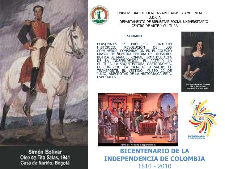 U.D.C.A: Bicentenario Conspiración en el Colegio Mayor Nuestra Señora del Rosario