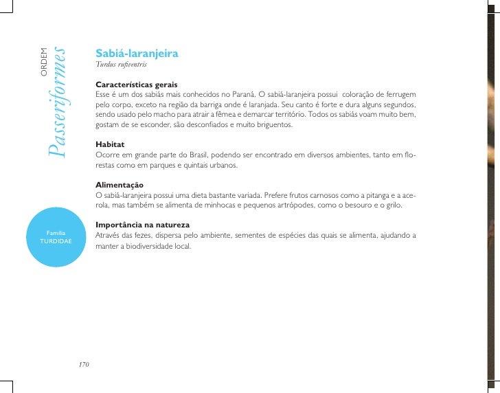 Sabiá-laranjeiraPasseriformesORDEM                      Turdus rufiventris                      Características gerais     ...