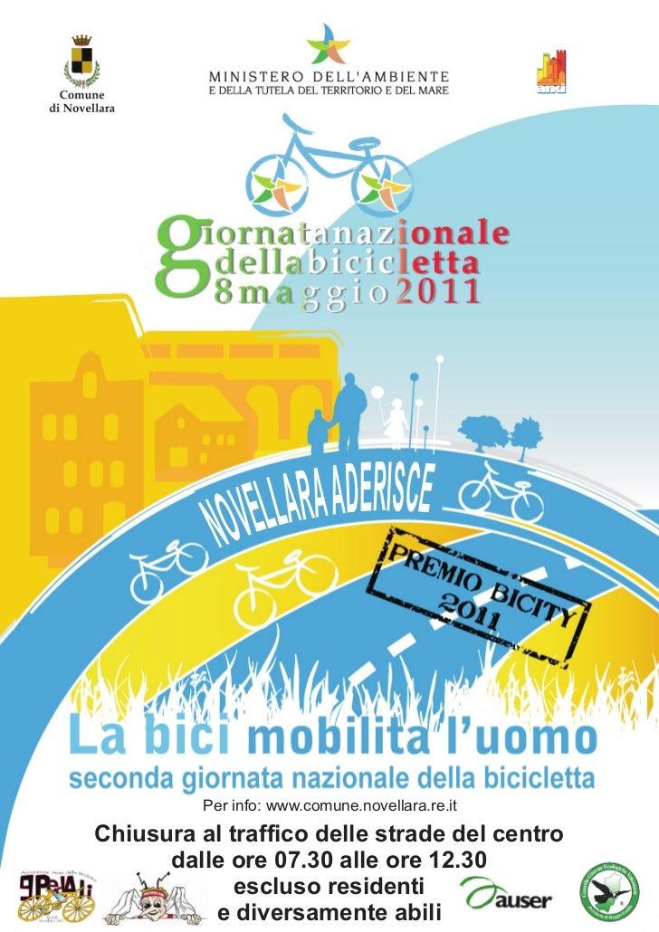 Per info: www.comune.novellara.re.itChiusura al traffico delle strade del centro      dalle ore 07.30 alle ore 12.30      ...