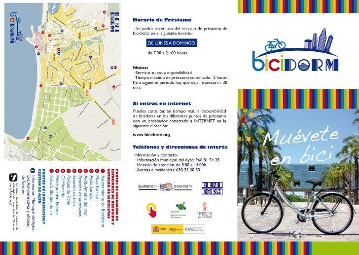 Cómo hacer uso de las bicicletas públicas de Benidorm