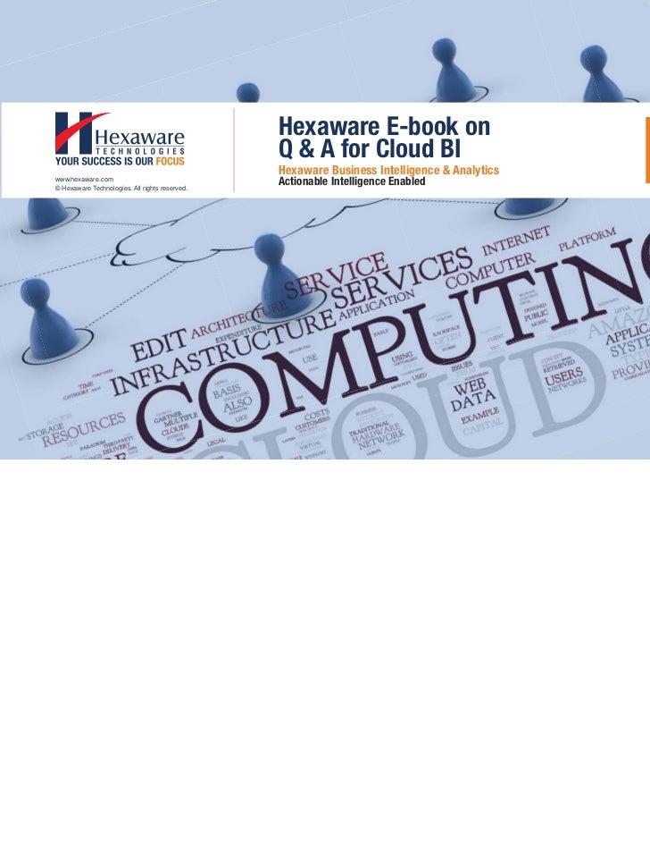 Hexaware E-book on                                                Q & A for Cloud BI                                      ...