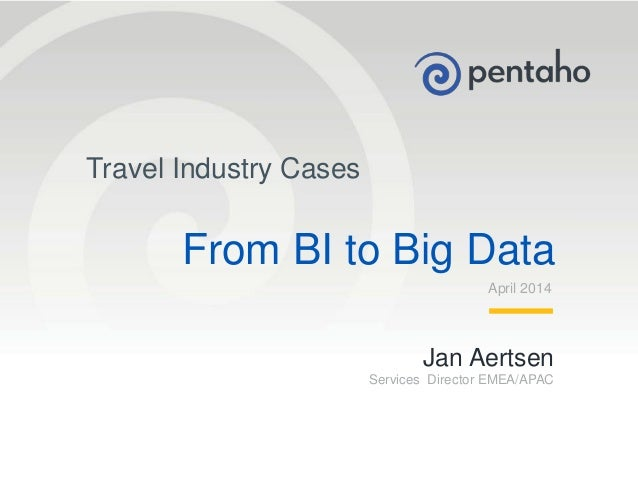 BI congres 2014-5: from BI to big data - Jan Aertsen - Pentaho