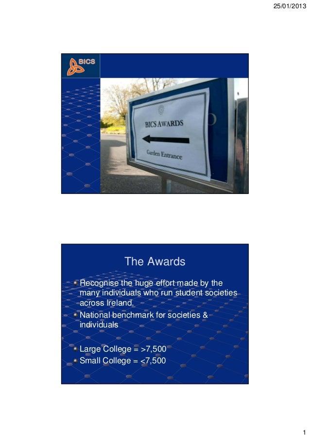BICS Awards 2013 presentation