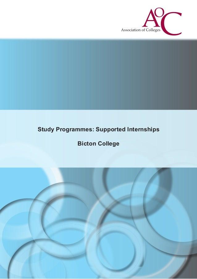 Study Programmes: Supported Internships Bicton College