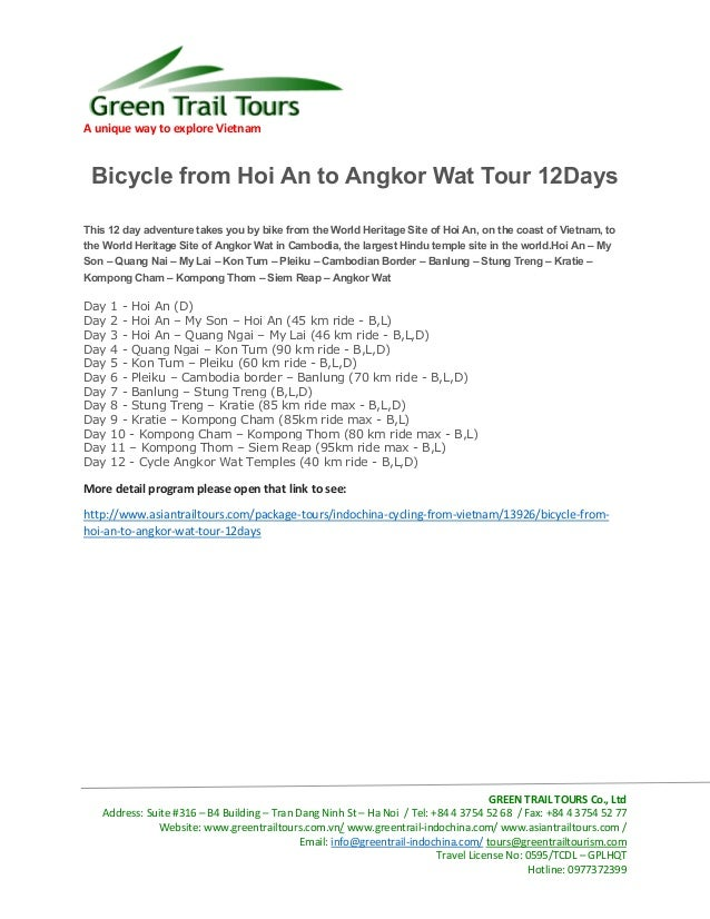 Bicycle from hoi an to angkor wat tour 12 days