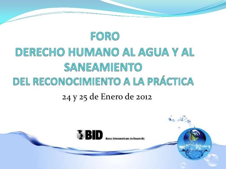 San Salvador, 25 de Enero de 20122424 y 25 de Enero de 2012
