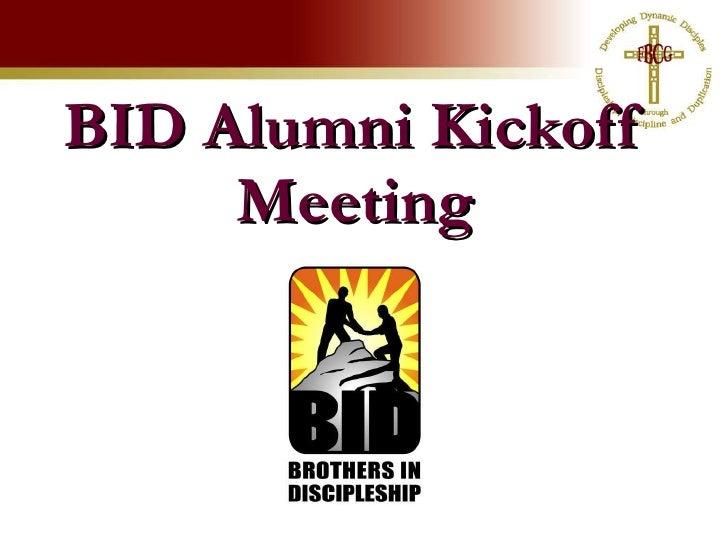 BID Alumni Kickoff Meeting