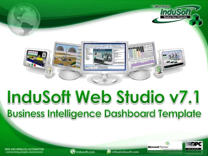 InduSoft Business Intelligence  Dashboard Template Webinar