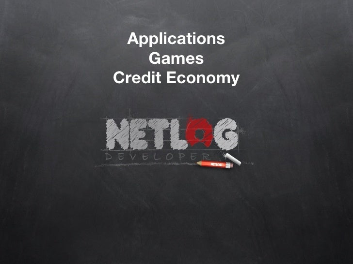 Applications Games Credit Economy