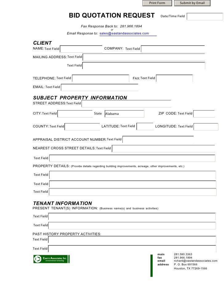 bid request form template .