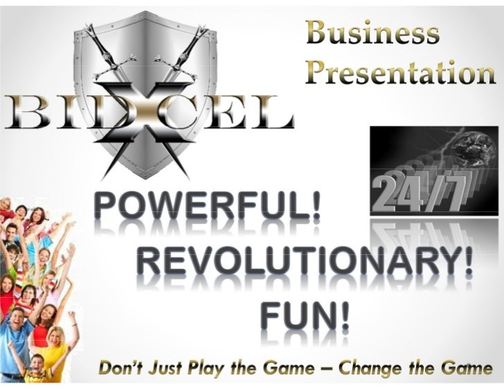 A Message for YouWelcome to the BidXcel business presentation. We're glad you'rehere!BidXcel offers innovative E-Commerce ...