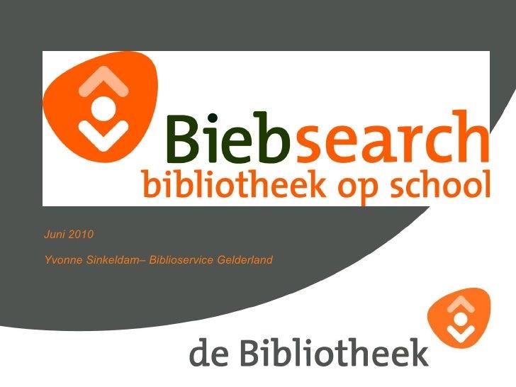 Biebsearch basispresentatie YS