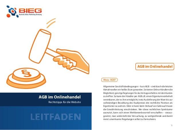 AGB im Onlinehandel                                      Wozu AGB?                                      Allgemeine Geschäf...