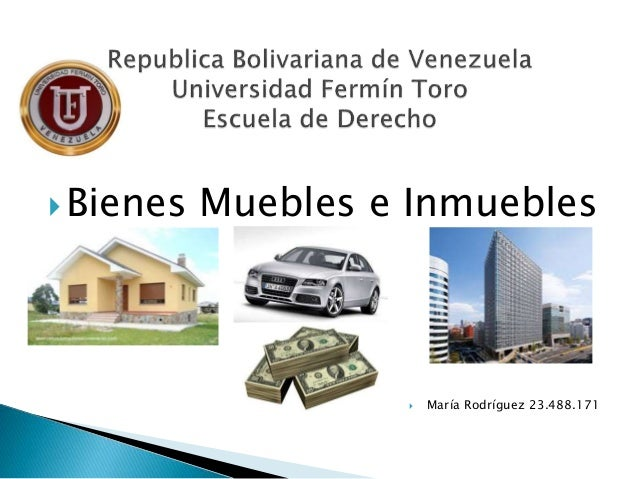Bienes muebles e inmuebles maria rodriguez 23488171 for Usucapion bienes muebles