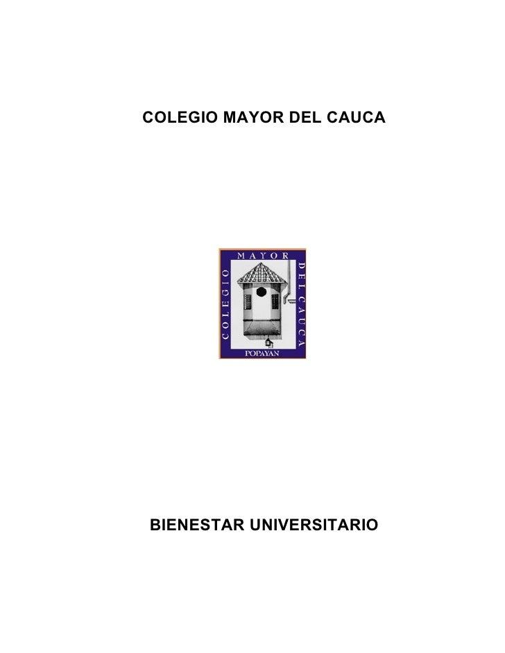 Documento de Bienestar universitario