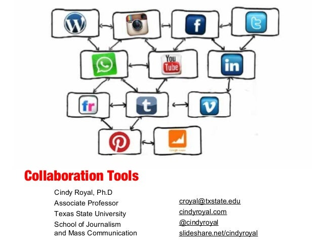 Collaboration Tools Cindy Royal, Ph.D Associate Professor Texas State University School of Journalism and Mass Communicati...