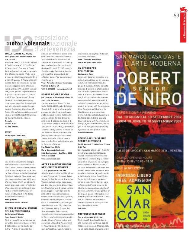 63 :notonlybiennaleWALLS. LARTE AL MURO                          città, sia per riflettere su alcune tema-       and emoti...