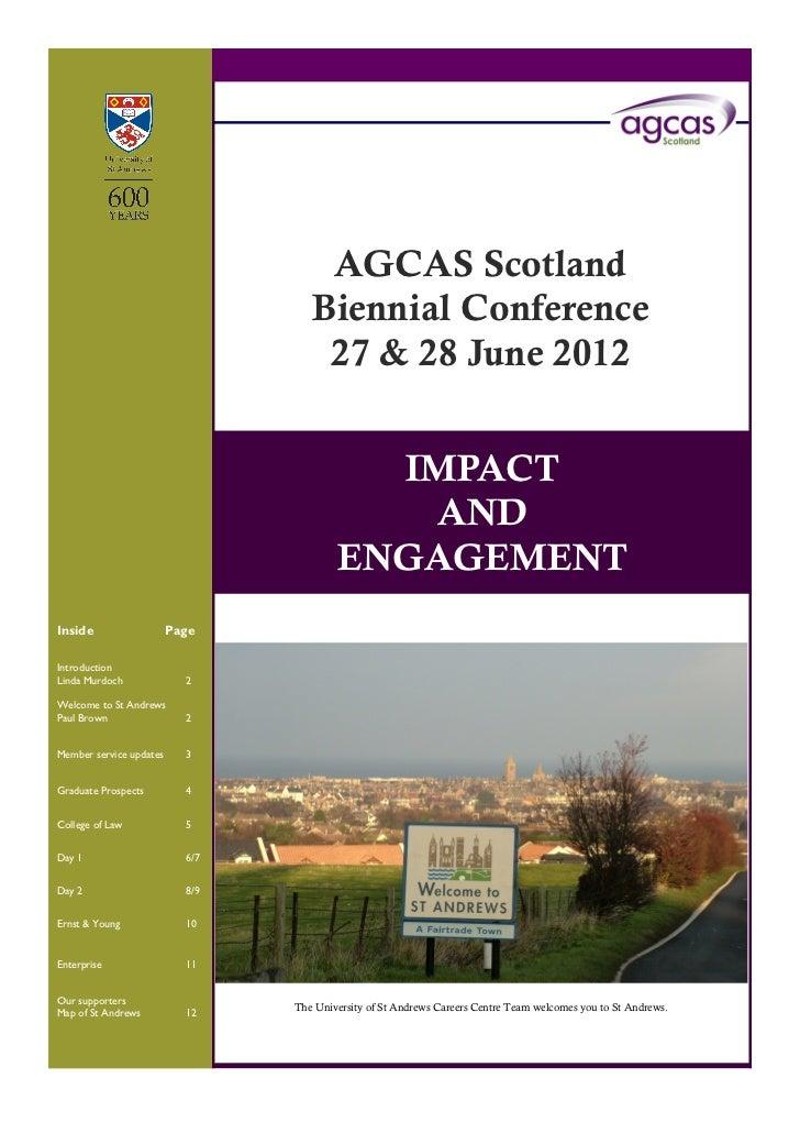 Agcas Biennial programme 2012
