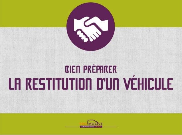 Bien préparer la restitution d'un véhicule