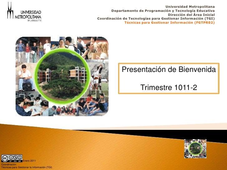 Universidad Metropolitana                                                       Departamento de Programación y Tecnología ...