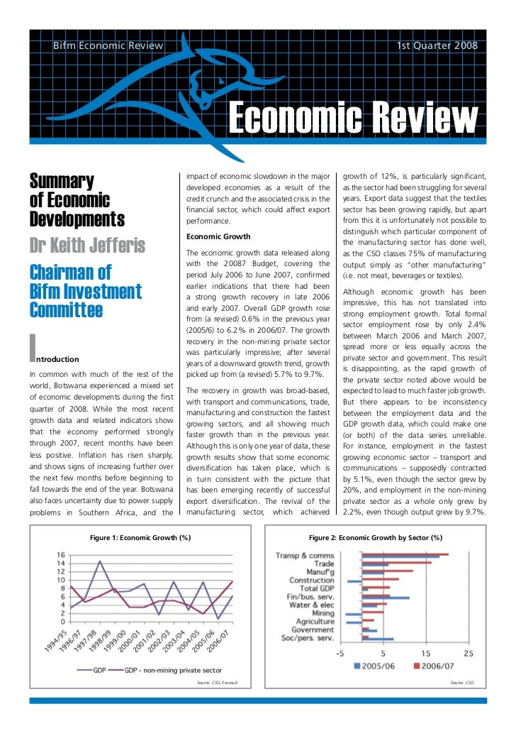 Bifm Economic Review                                                                                    1st Quarter 2008  ...