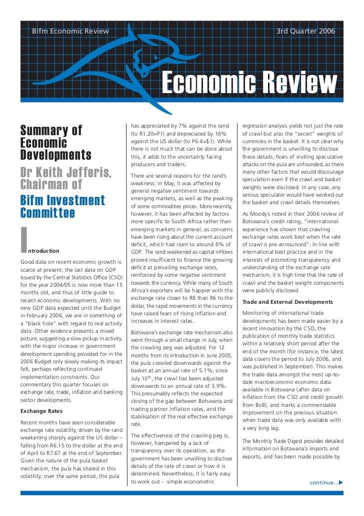 Bifm Economic Review                                                                                      3rd Quarter 2006...
