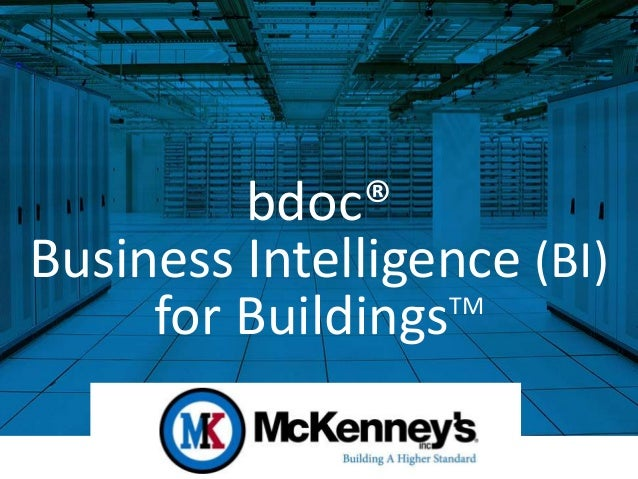 bdoc® Business Intelligence (BI) for BuildingsTM