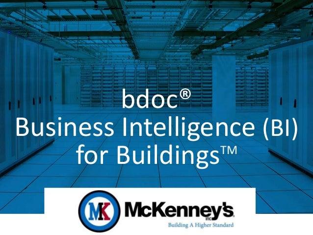 bdoc® Business Intelligence (BI) for Buildings™