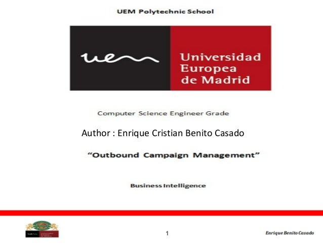 1 Author : Enrique Cristian Benito Casado