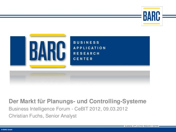 Der Markt für Planungs- und Controlling-Systeme