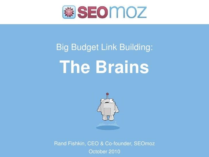Big budget Link Building: Advanced Analysis