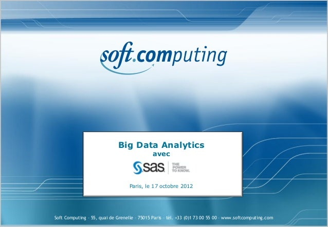 Big Data Analytics                                              avec                                   Paris, le 17 octobr...