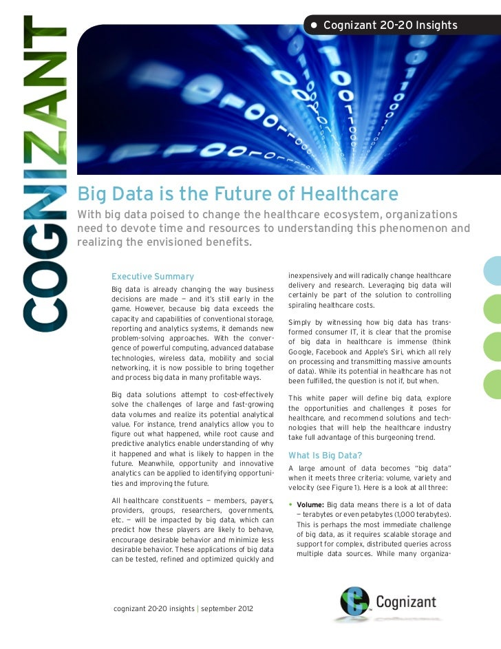 Big Data is the Future of Healthcare