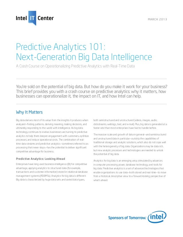 Big data-predictive-analytics-overview