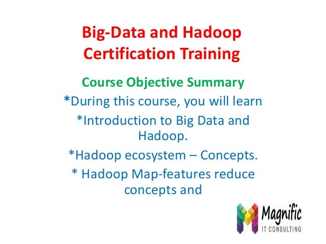 Big data and hadoop certification training