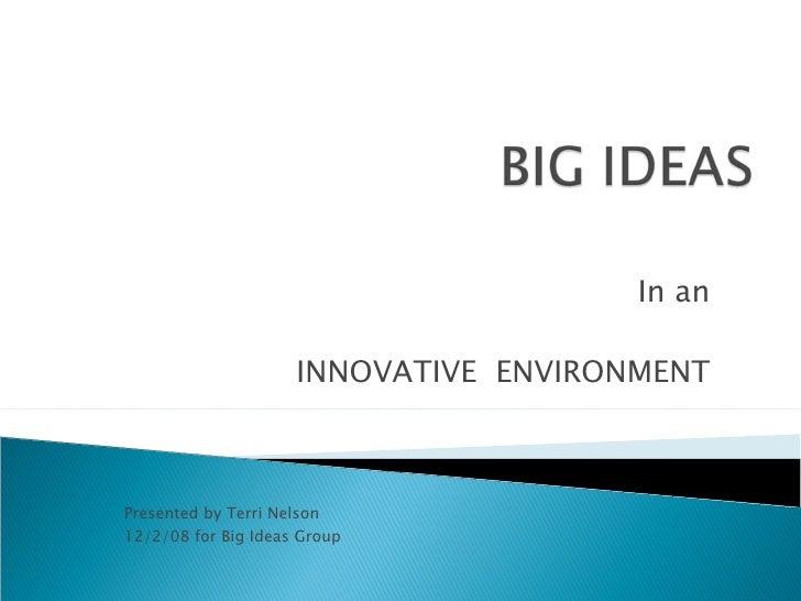Big Ideas T Nelson Pres