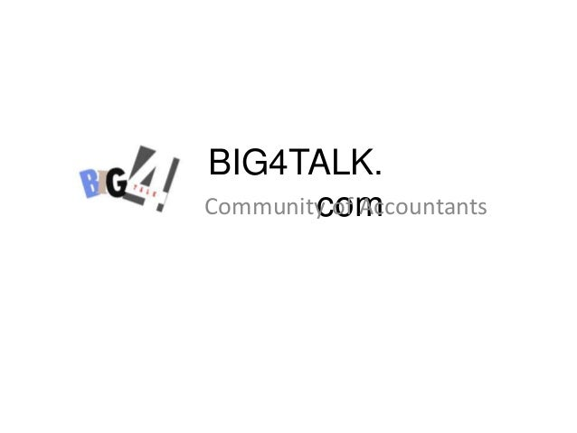 Community of Accountants | BIG4Talk.com