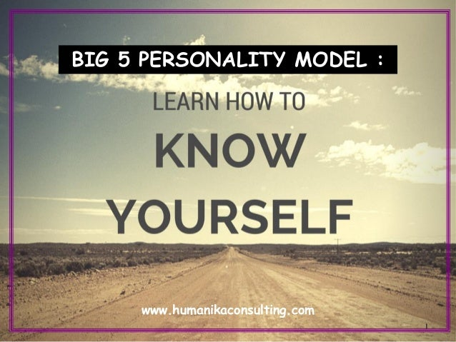 big five model of personality pdf