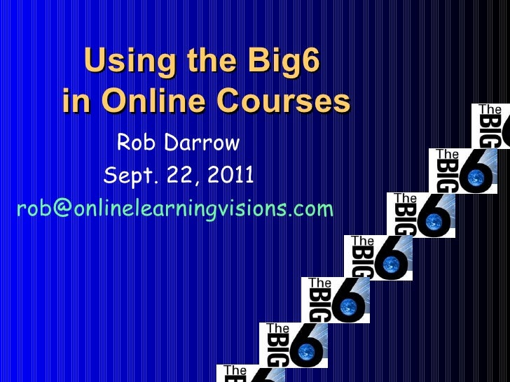 Using the Big6  in Online Courses Rob Darrow Sept. 22, 2011 [email_address]