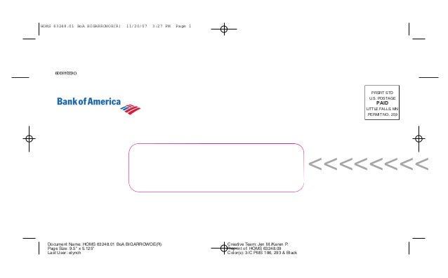 "PRSRT STD U.S. POSTAGE PAID LITTLE FALLS, MN PERMIT NO. 259 Document Name: HOMS 63248.01 BoA BIGARROWOE(R) Page Size: 9.5""..."