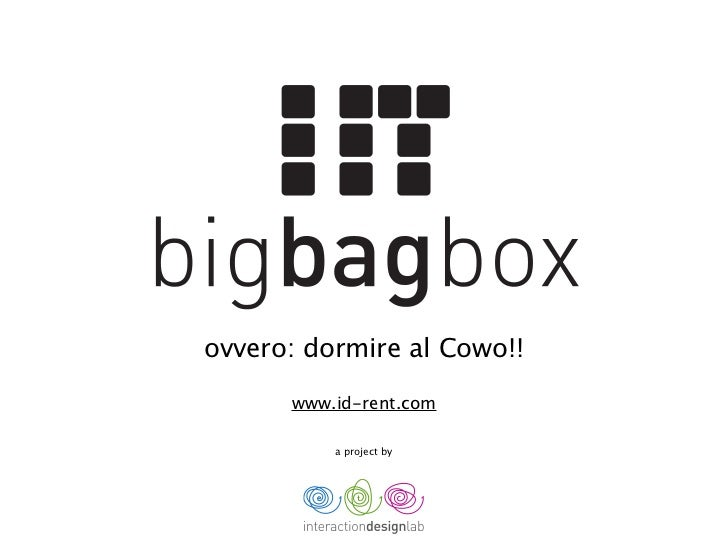 ovvero: dormire al Cowo!!      www.id-rent.com          a project by