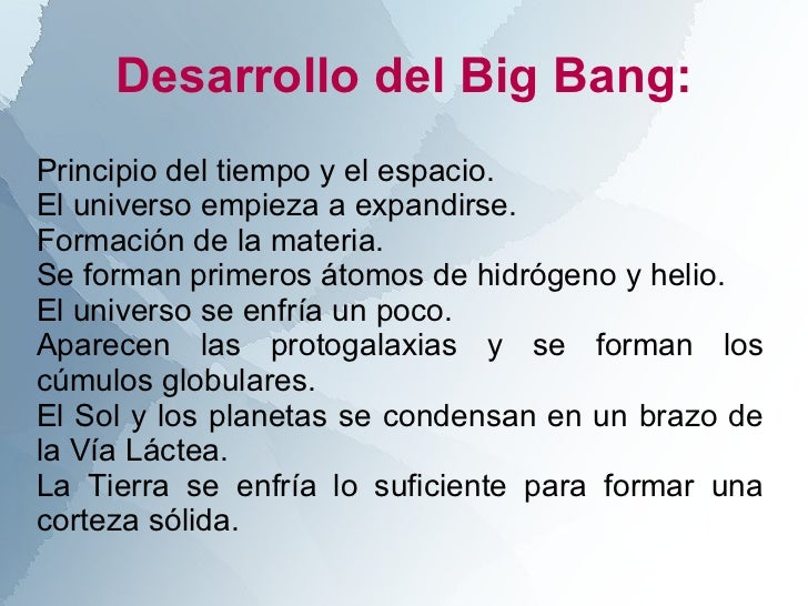 resumen teor a big bang