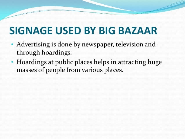 big bazar price control on customer Reach customers, grow sales, balance your books and work in collaboration from any device originally answered: how do i get a franchise of big bazaar.