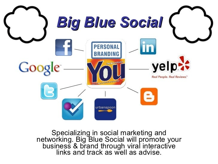 Big Blue Social Specializing in social marketing and networking. Big Blue Social will promote your business & brand throug...
