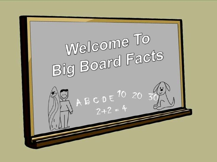 Big board of facts v2