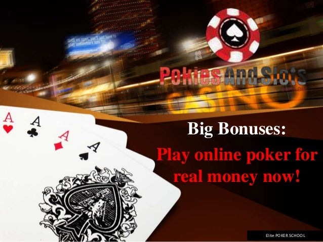 online poker for real money