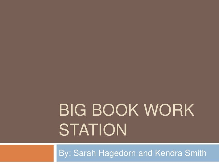 Big book work station
