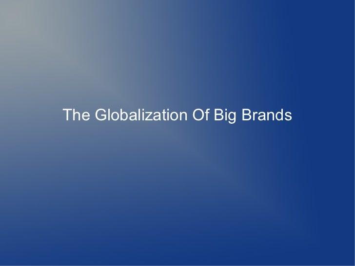 Big brands